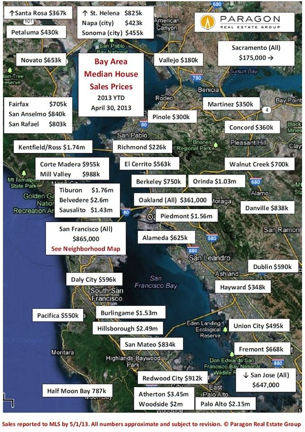San Francisco Bay Area Home Price Maps The full price we pay series on the bay area's housing crisis is available to subscribers here. san francisco bay area home price maps